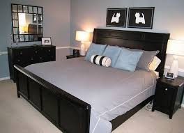 black bedroom furniture via decorating obsessed fabulous dog silhouettes above the bed black painted bedroom furniture