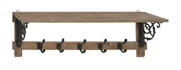Wall Mounted Coat Rack With Shelf Walmart Wall Hanging Coat Rack Mounted With Shelf Uk Antique Bronze Finish 57