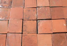 original antique reclaimed victorian terracotta quarry tiles available in our warehouse