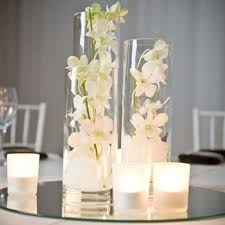 new trio of cylinder glass vases wedding event party centrepiece decoration