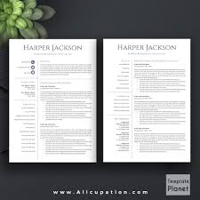 modern resume template cover letter references ms office word allcupation professional resume template cv template 1 2 and 3 page resume
