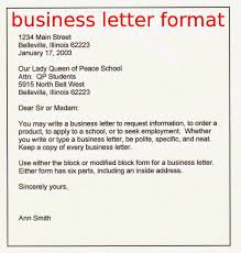 Letters Example Of A Business Letter Business Letter Format