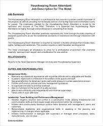 hotel housekeeper job description housekeeping job duties