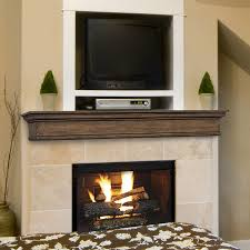 pearl mantels savannah 72 in w h x 9 in d taos distressed pine traditional
