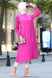Hijabi Long Plain Tunic Shirt 5043