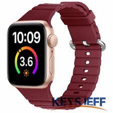 Dây Đeo Silicon Cho Đồng Hồ Thông Minh Apple Watch Series 6 / 5 / 4 / 3  38mm 40mm 42mm 44mm Ju81025 giá cạnh tranh