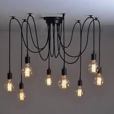 industrial home lighting. vintage industrial adjusted diy ceiling lamp glass pendant lighting chandelier home a