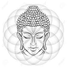 Boeddha Hoofd En Lotus Stockvector Kronalux 143695481 120