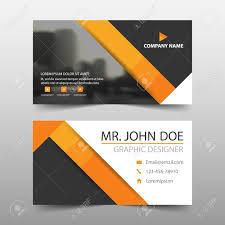 business card tamplate orange triangle corporate business card name card template horizontal