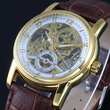 top brand winner watches classic mens auto automatic mechanical top brand winner watches classic mens auto automatic mechanical watch self winding analog skeleton brown leather