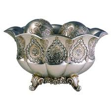 Gold Decorative Bowl Ore International 7 In H Traditional Royal Silver And Gold