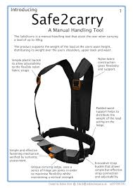 Simple Product Design Projects Safe2carry The Manual Handling Support Tool Product