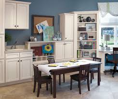 craft room with aristokraft durham cabinets casual office cabinets