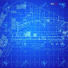 Urban Blueprint Architectural Background Royalty Free Cliparts