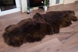 brown double merino sheepskin rug amazing soft wool