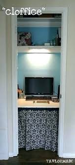 turn closet home office. Home Office Computer Desk Turn Closet Into An Skirt Around Bottom Corner With Hutch L