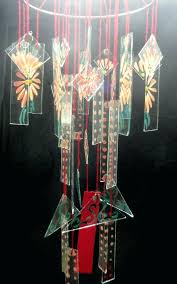 chinese windchime glass glass wind chime chimes vintage style apricot