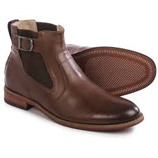 florsheim rockit buckle boots leather for men in brown