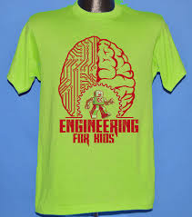 Lime Green Designer T Shirt Colorful Bold Education T Shirt Design For Engineering For