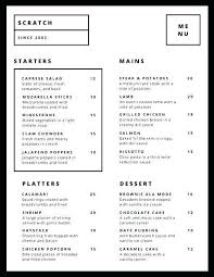 Drinks Menu Template Word | Nfcnbarroom.com