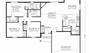 floor plan of a one story house. One Story 3 Bedroom House Plans Awesome 4 Floor E Plan Design Of A