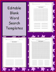 Blank Word Search Teaching Resources Teachers Pay Teachers