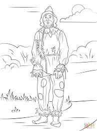 Wizard of Oz Scarecrow coloring page | Free Printable Coloring Pages