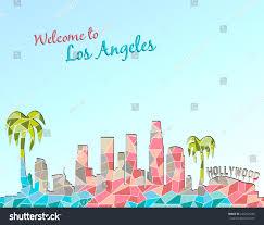 Be Design Los Angeles Modern Design Los Angeles Skyline Travel Stock Vector