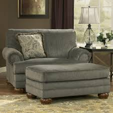 incredible chair with grey accents color combined rectangle fabric ottoman also fl throw pillows