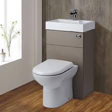 Sink And Toilet Combo Milano Combination Toilet Basin Unit Stone Grey