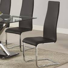 leather dining chairs modern. Coaster Modern Dining Black Chair - Item Number: 100515BLK Leather Chairs N