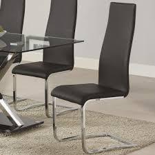 coaster modern dining black dining chair item number 100515blk