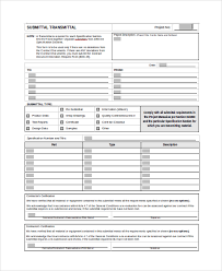 Construction Submittal Form Template 8 Sample Submittal Transmittal
