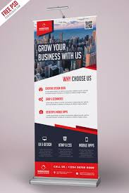 template for advertisement corporate advertisement roll up banner psd template uxfree com