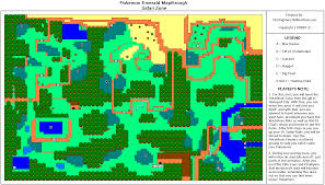 Pokemon Emerald Version Safari Zone Map Map for Game Boy Advance by  StarFighters76 - GameFAQs