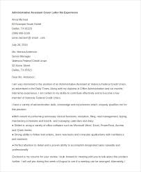 Cover Letter For Administrative Position With No Experience