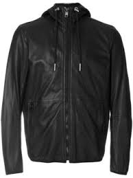 ac luxury collection leather jacket. hooded zip jacket ac luxury collection leather c