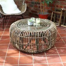 rattan and glass coffee table round rattan coffee table with glass top rattan coffee table replacement glass