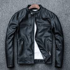 Mr.R Men Sheepskin <b>Leather</b> Jacket Fashion Genuine <b>Leather 2019</b> ...