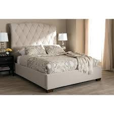 zinus upholstered platform bed king diamond stitched deluxe faux leather furniture