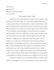 great expectations documents course hero great expectations essay