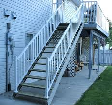 exterior metal staircase prices. metal outdoor stair handrail kits exterior staircase cost deck railing prices l