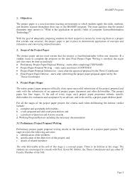 Formal Software Project Proposal Example Template Document