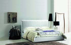 387 Modern White Eco-Leather Bed