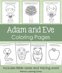 Adam And Eve Bible Coloring Pages Mamas Learning Corner