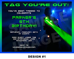 Design Your Own Birthday Party Invitations Laser Tag Birthday Invitations And Get Inspired To Create Your Own