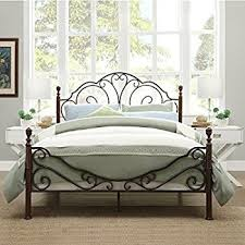 iron bedroom furniture. LeAnn Graceful Scroll Bronze Iron Bed Frame (Queen) Bedroom Furniture