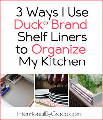 3 Ways I Used the Duck® Brand Shelf Liner to Organize My Kitchen ...