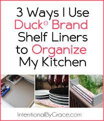 3 ways i used the duck brand shelf liner to organize my kitchen