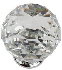 crystal furniture knobs. Clear 1-9/16\ Crystal Furniture Knobs I